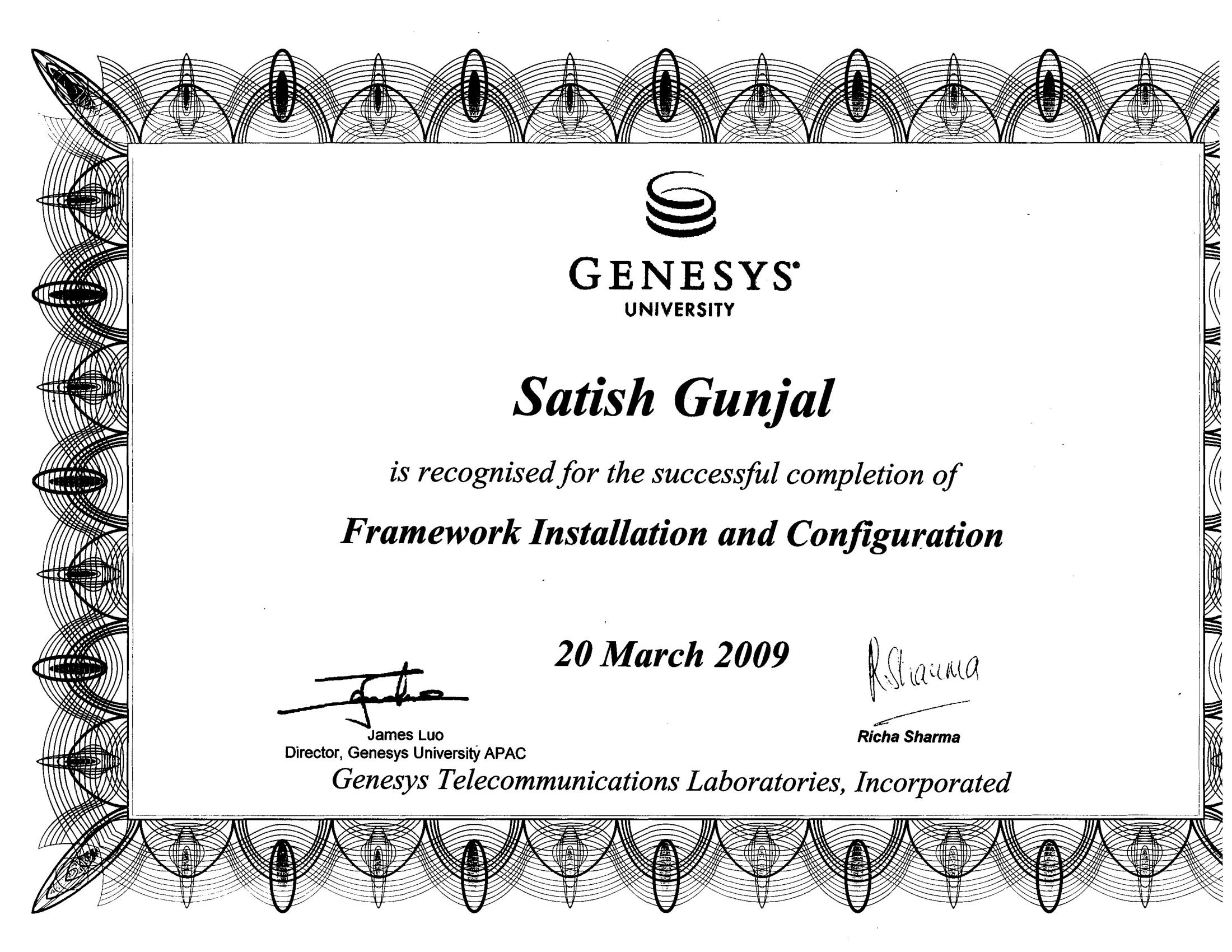 Genesys Framework Installation and Configuration