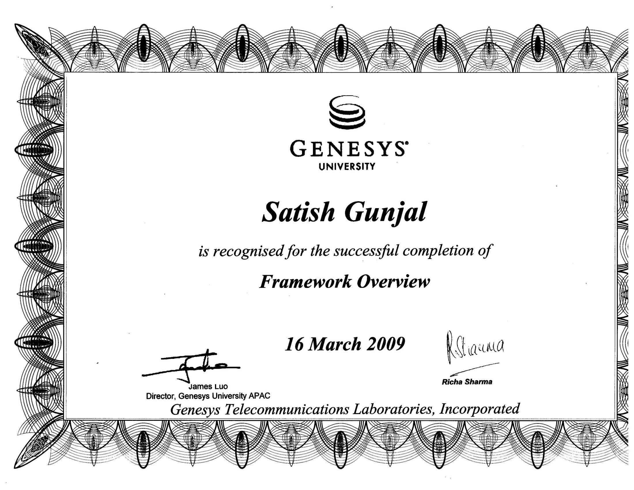 Genesys Framework Overview