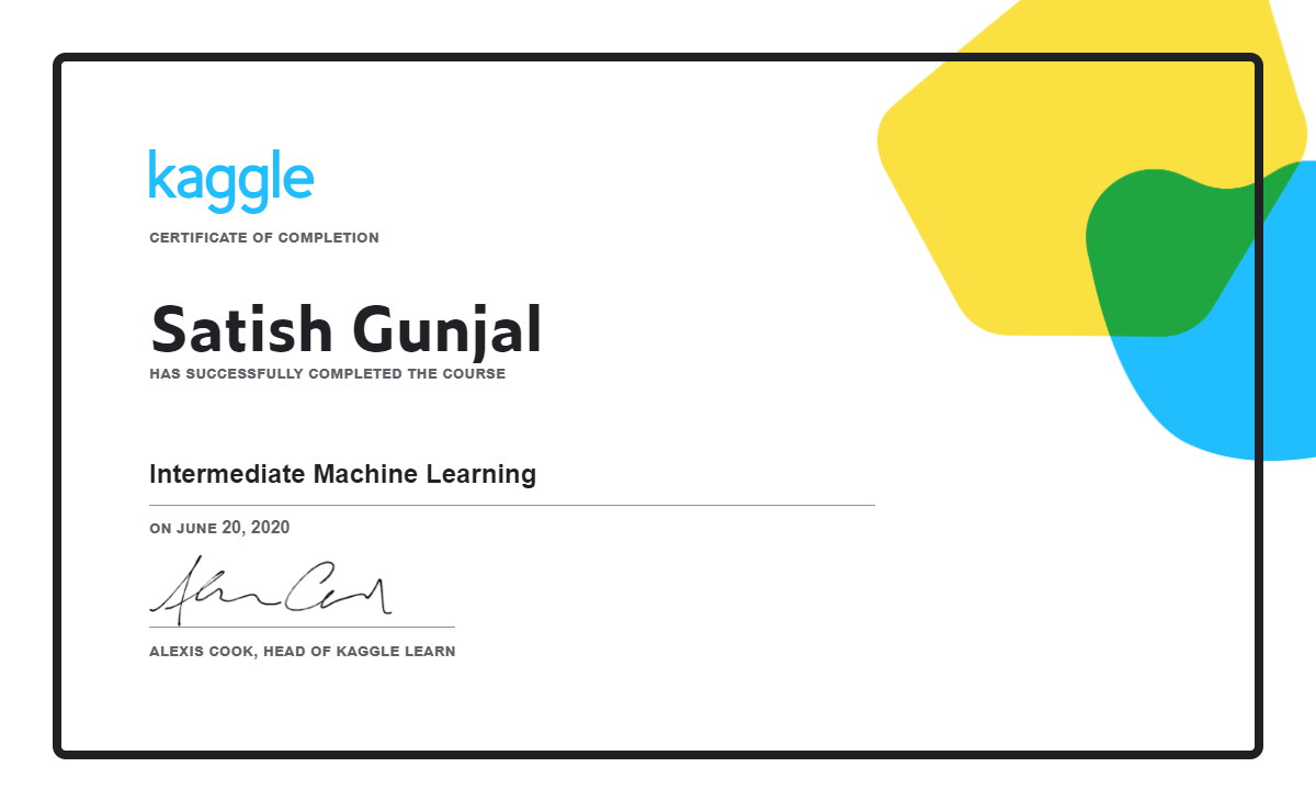 Intermediate Machine Learning