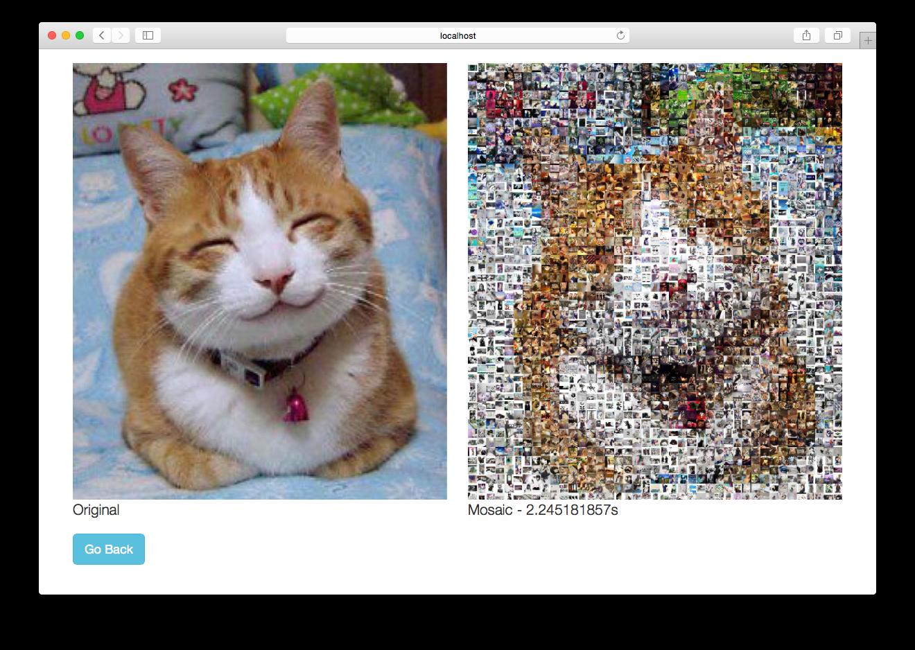 Figure 1 – Basic photo mosaic web application