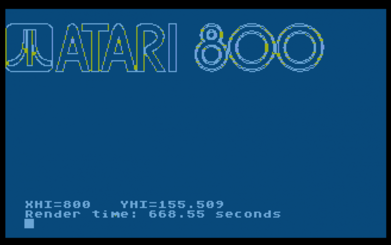 Sample Image 4 - Atari 800 logo