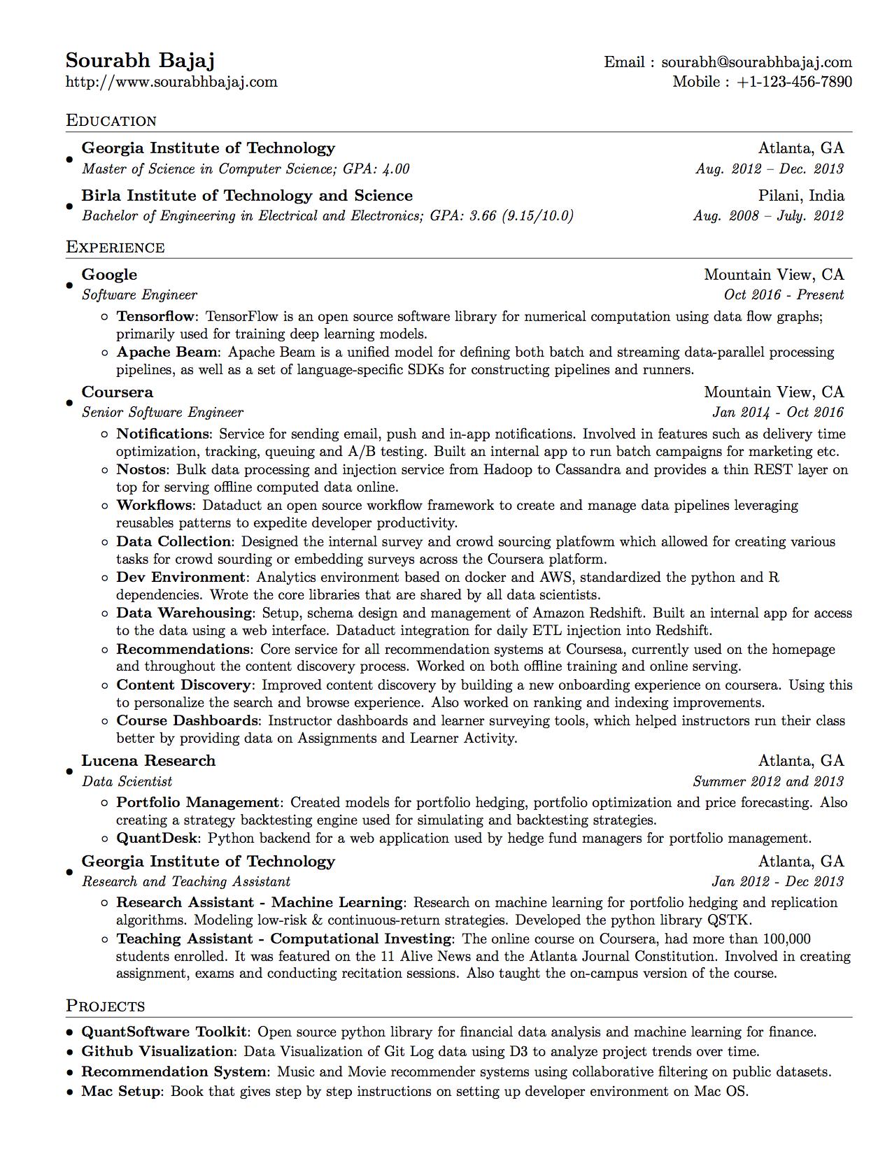 github lzhbrian resume software developer resume in