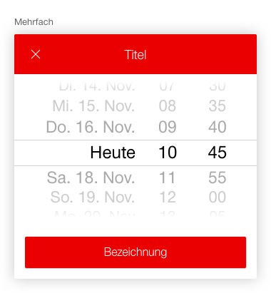 Image of datepicker, combined