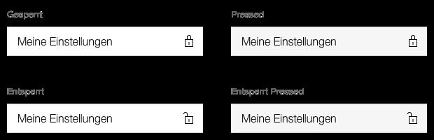 Darstellung des Menu Eintrags, mit Passwortschutz