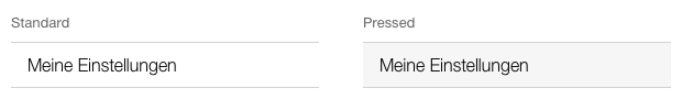 Darstellung des Menu Eintrags, Standard