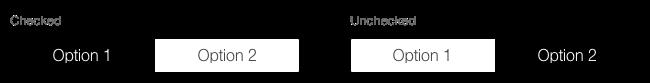 Darstellung des Segmented Buttons