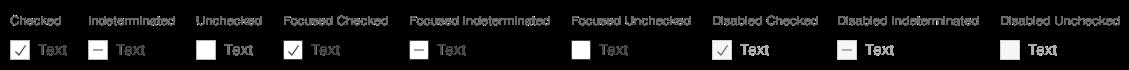 Darstellung der Komponente Checkbox