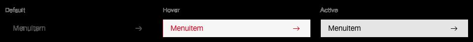 Darstellung der Komponente Menuitem in der Standard Ausprägung