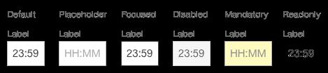 Darstellung der Komponente Zeiteingabe