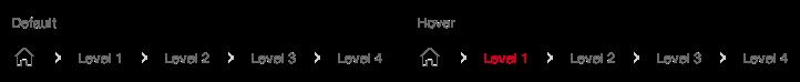 Darstellung der Komponente Breadcrumb in der Ausprägung Standard