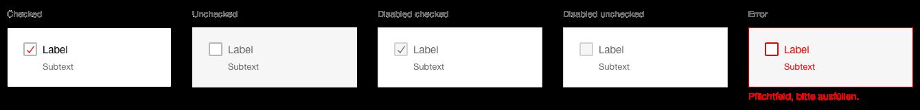 Darstellung der Komponente Checkboxpanel mit zusätzlichem Hinweistext