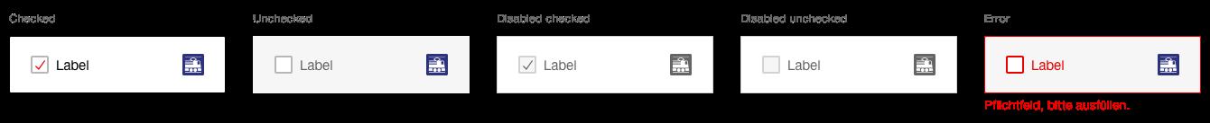 Darstellung der Komponente Checkboxpanel mit zusätzlichem Piktogramm oder Logo