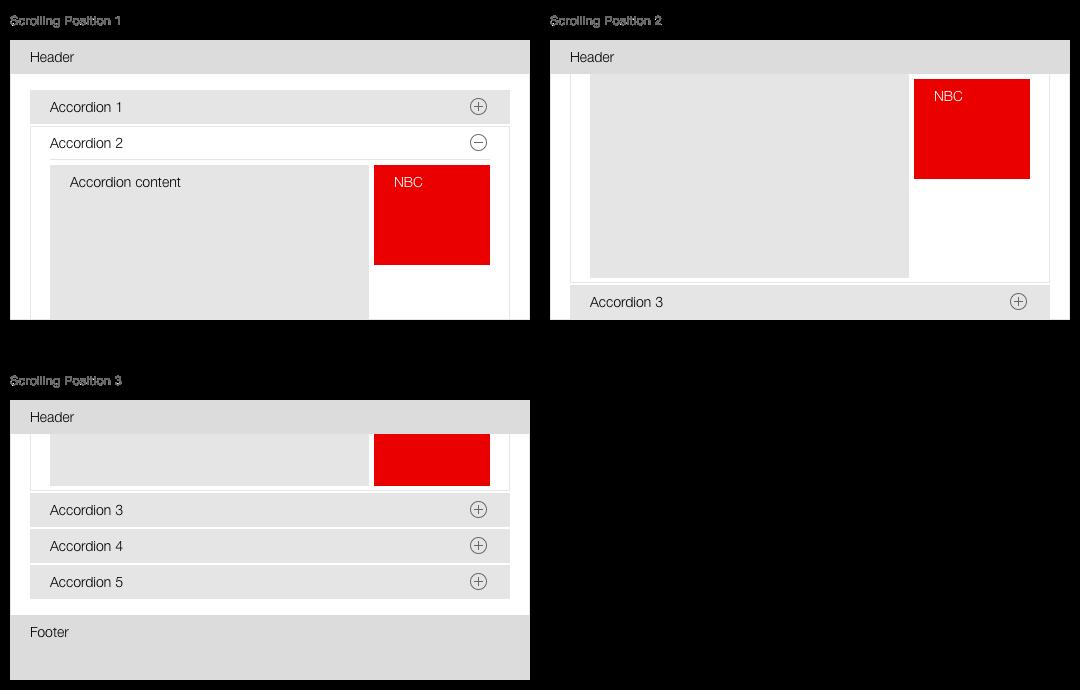 Darstellung des Verhaltens eines Next Best Click innerhalb eines Akkordeons
