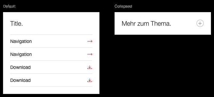 Darstellung der Komponente Next Best Click Container als Linkliste zu anderen Themen