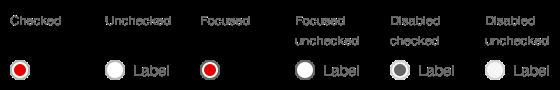Darstellung der Komponente Radiobutton in der Ausprägung Standard