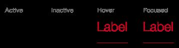Darstellung der Komponente Tab in der Ausprägung Standard