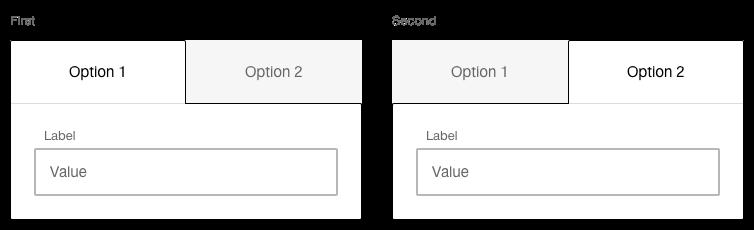 Darstellung der Komponente Toggle-Button mit zusätzlichem Eingabekontext