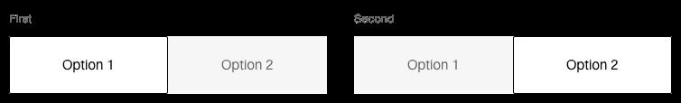Darstellung der Komponente Toggle-Button mit der Ausprägung Standard