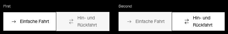 Darstellung der Komponente Toggle-Button mit Icons