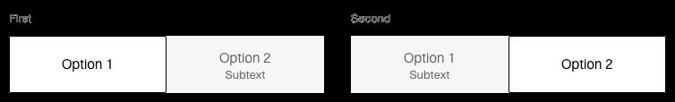 Darstellung der Komponente Toggle-Button mit zusätzlichen Hinweistext