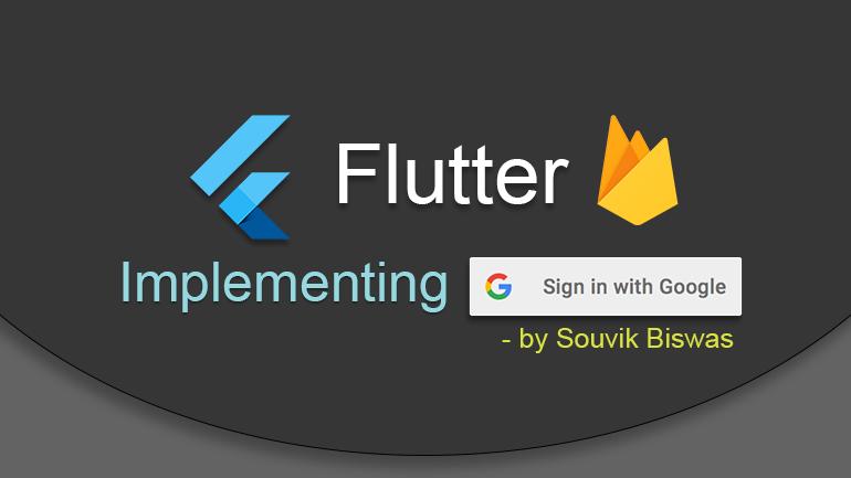 Flutter Implementing Google Sign In