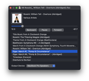 Image of an audio player window