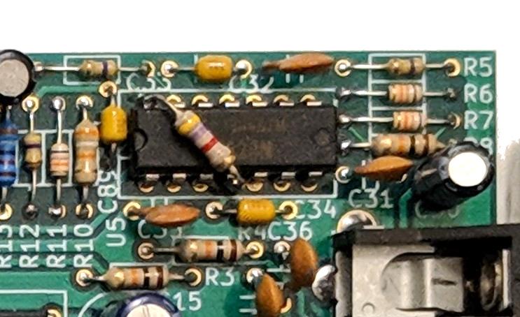 Photo of bodge resistor