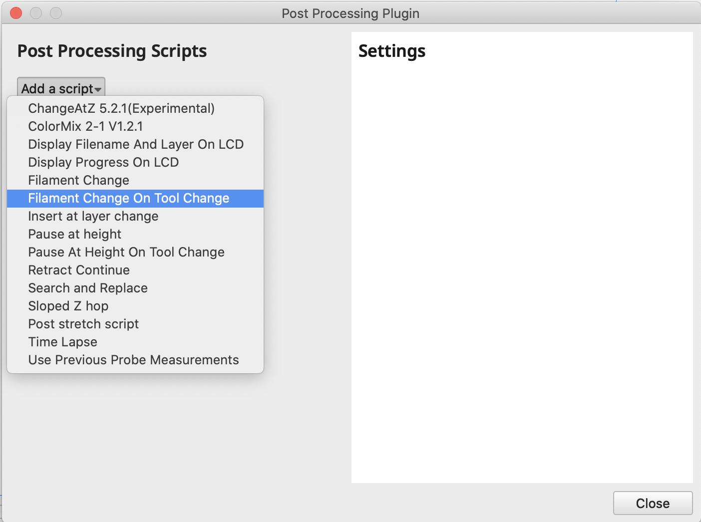 Cura post-processing scripts