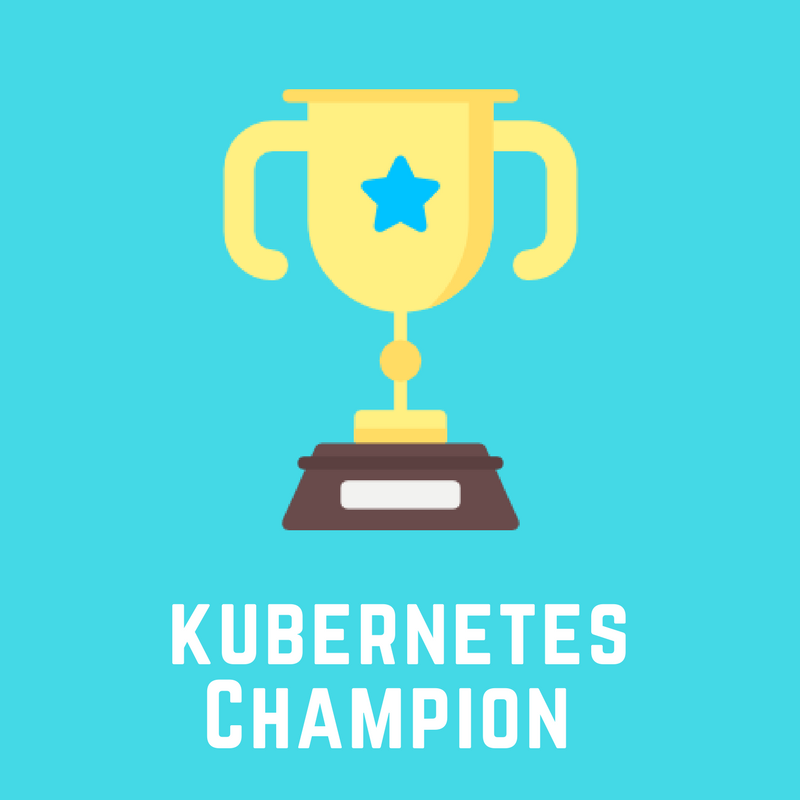 Kubernetes Champion badge by School of Devops