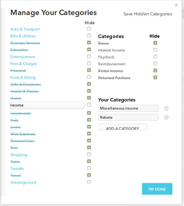 Editing categories