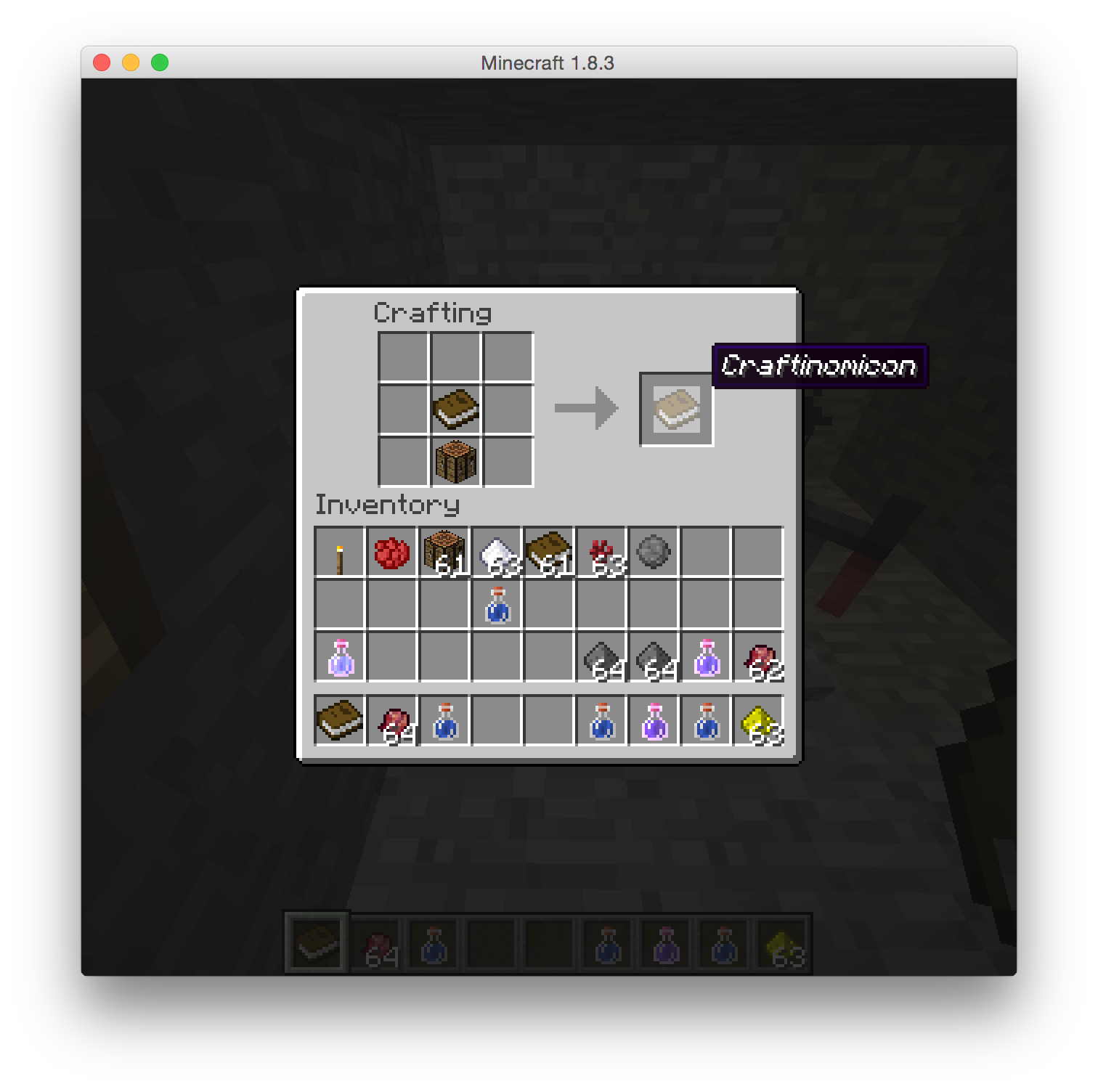 minecraft how to close recipe book