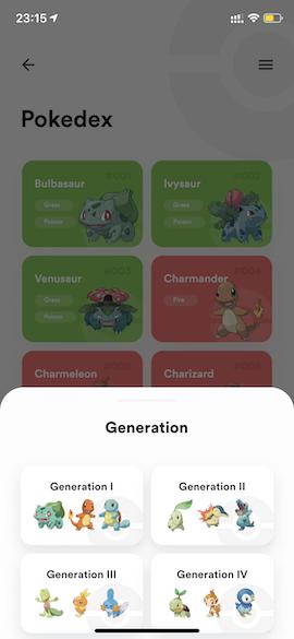 Pokedex Generation