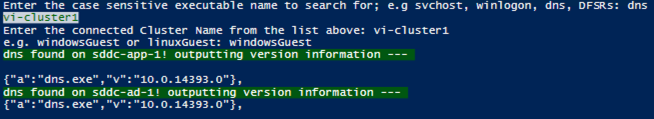 PowerShell Output Example