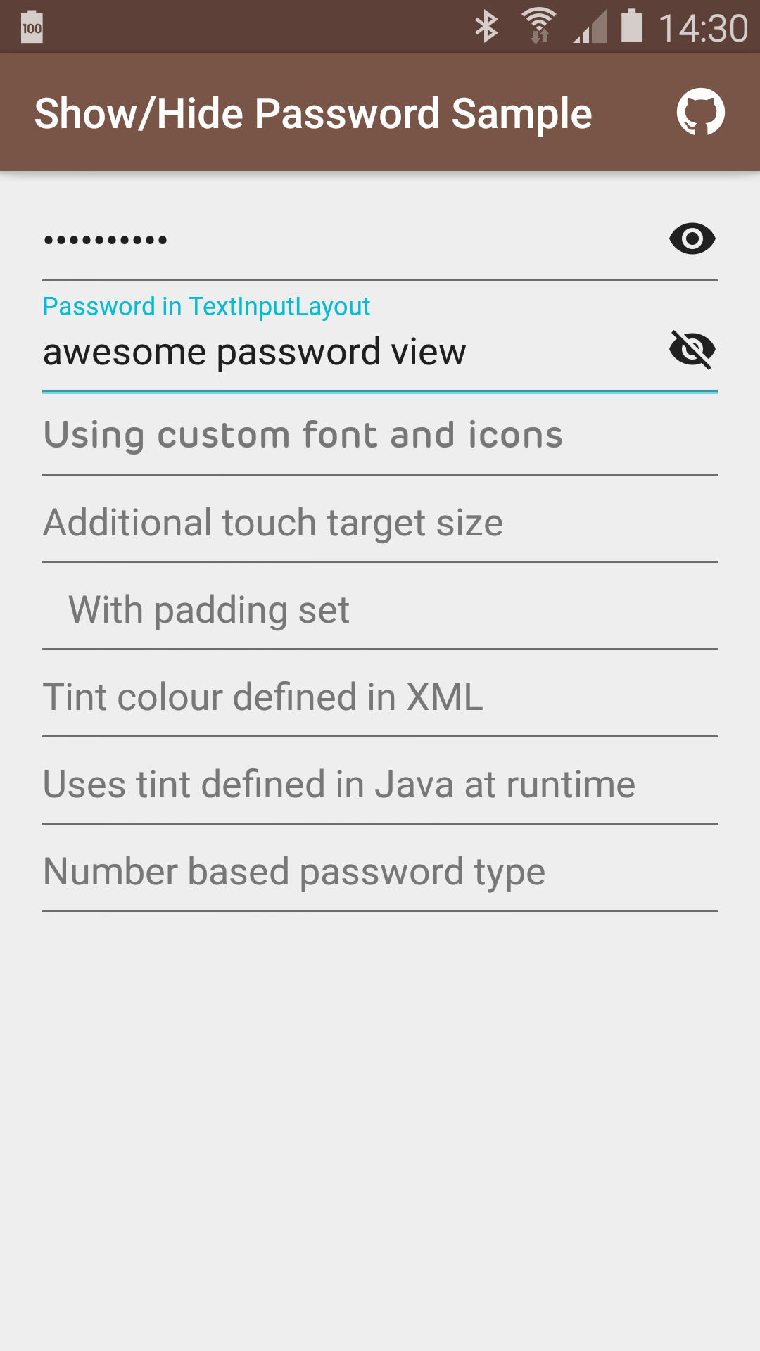 The Android Arsenal - Text Views - Show/Hide Password EditText