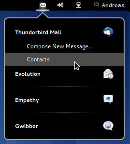Messaging Menu screenshot