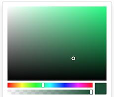 Angular color sketch preview