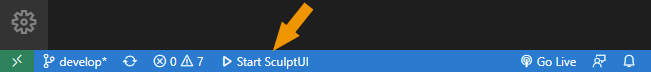 Start SculptUI command in command bar