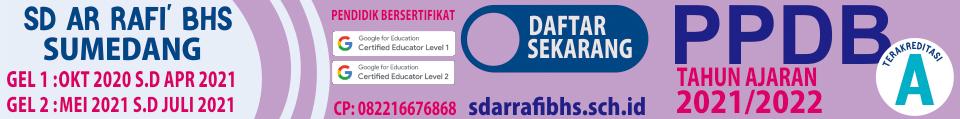 PPDB SD Ar Rafi' BHS