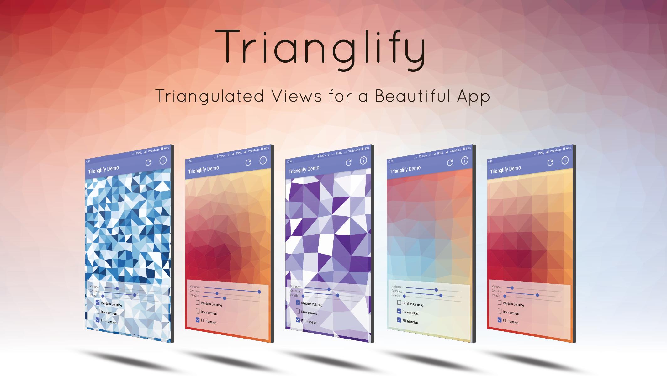Trianglify poster