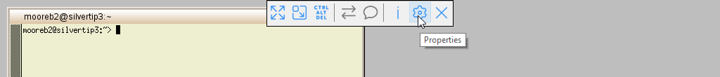 vnc session toolbar