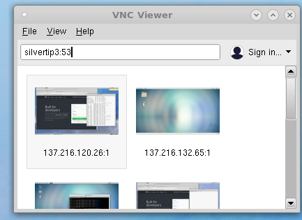 vncviewer screenshot