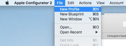 apple configurator new profile