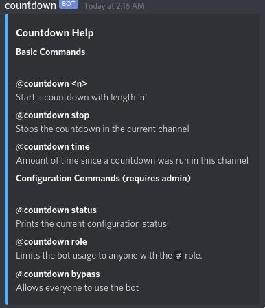 Bot Countdown
