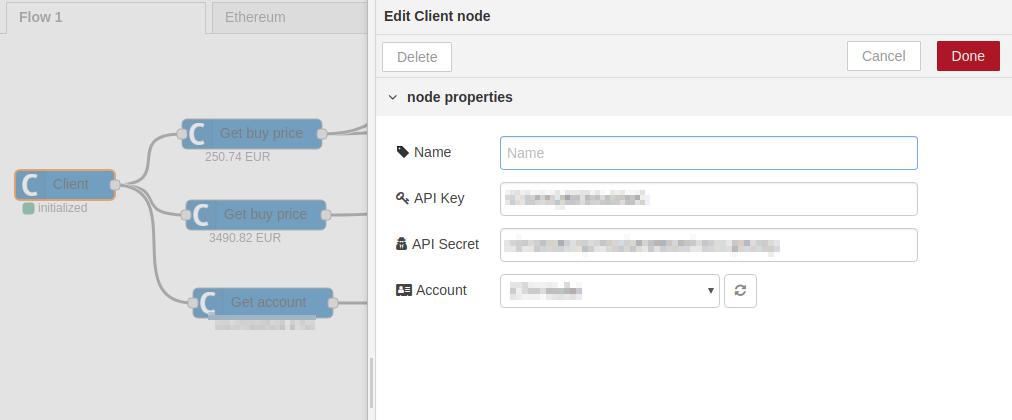 Client setup properties