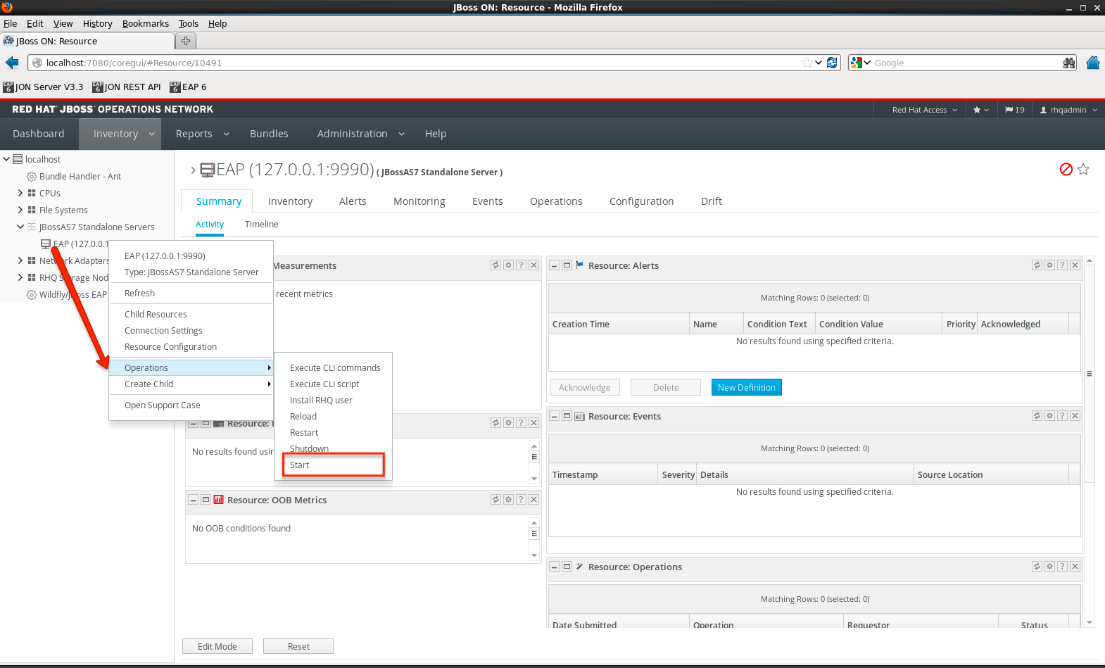 Inventory - JBoss EAP successfully imported