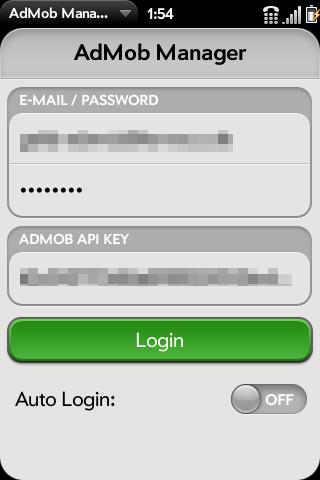 AdMob Manager Screenshot 0