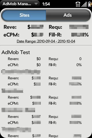 AdMob Manager Screenshot 1