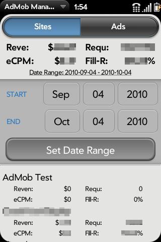 AdMob Manager Screenshot 2