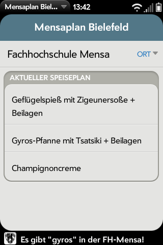 Mensaplan Screenshot 1