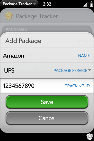 Package Tracker Screenshot 2
